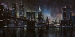 Nightime Prints - N.Y.City Print by Michael Lang