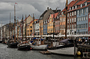 Colorful Buildings Posters - Nyhavn Poster by Wade Aiken