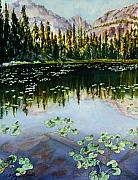 Northern Colorado Artist Prints - Nymph Lake Print by Mary Benke