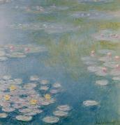 Waterlily Painting Metal Prints - Nympheas at Giverny Metal Print by Claude Monet