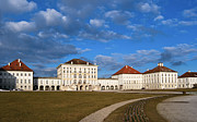 Nymphenburg Framed Prints - Nymphenburg palace in Spring time Framed Print by Andrew  Michael