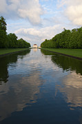 Nymphenburg Framed Prints - Nymphenburg palace lake Framed Print by Andrew  Michael