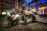 Police Art Photo Prints - NYPD Bikes Print by Yhun Suarez