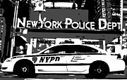New York Cops Framed Prints - Nypd Bw3 Framed Print by Scott Kelley