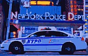 Police Station Framed Prints - NYPD Color 16 Framed Print by Scott Kelley