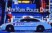 Cop Digital Art - NYPD Color 6 by Scott Kelley
