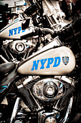 Nypd Photos - NYPD Harley Davidson by Kelly Wade