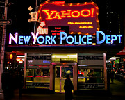 Neon Signs Photos - NYPD Station by Michel Soucy