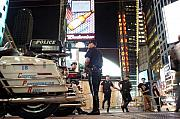 Nypd Prints - NYPD Times Square Print by Robert Lacy