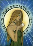Magick Prints - Nyx Goddess of Night Print by Natalie Roberts