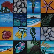 Kiwi Painting Prints - NZ Treasures Print by Astrid Rosemergy