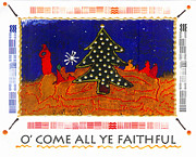 African Jesus Framed Prints - O Come All Ye Faithful Framed Print by Angela L Walker