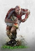 Rugby Framed Prints - O Connell Framed Print by James Robinson