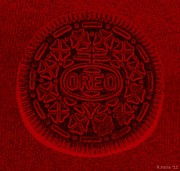 Popart Digital Art Originals - O R E O In Red by Rob Hans