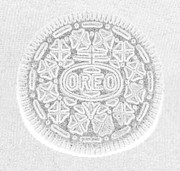 Oreos Prints - O R E O in WHITE Print by Rob Hans