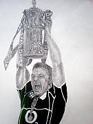 Rugby Drawings - O by Sean Leonard