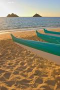 Sports Art Prints - Oahu, Outrigger Canoes Print by Tomas del Amo - Printscapes