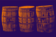Wine Barrel Photos - Oak Barrel Gradient by LeeAnn McLaneGoetz McLaneGoetzStudioLLCcom