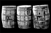 Wine Barrel Photos - Oak Barrel Gray by LeeAnn McLaneGoetz McLaneGoetzStudioLLCcom