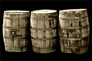 Wine Barrel Photos - Oak Barrel Yellow Tint by LeeAnn McLaneGoetz McLaneGoetzStudioLLCcom