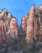 Formations Painting Framed Prints - Oak Creek Canyon Framed Print by Sandy Tracey