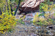 West Fork Digital Art - Oak Creek Canyon Wall by Brian Lambert