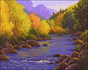 Western Usa Painting Posters - Oak Creek Color Show Poster by Cody DeLong