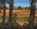 Oak Tree Paintings - Oak Grove of Grant Township by Sandra Quintus