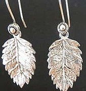 Sterling Silver Art - Oak Leaves by Joan  Jones