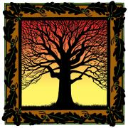 Burr Oak Tree Digital Art - Oak Square by William Krupinski