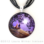 Landscapes Jewelry Originals - Oak Tree Meditation Pendant by Laura Iverson