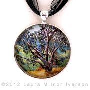 Landscapes Jewelry Originals - Oak Tree Pendant by Laura Iverson