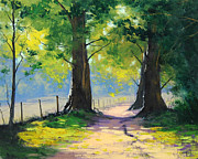 Oak Trees Paintings - Oak Tree Trail by Graham Gercken