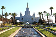 Latter-day-saints Posters - Oakland California Temple . The Church of Jesus Christ of Latter-Day Saints . 7D11305 Poster by Wingsdomain Art and Photography