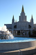 Latter-day-saints Posters - Oakland California Temple . The Church of Jesus Christ of Latter-Day Saints . 7D11316 Poster by Wingsdomain Art and Photography
