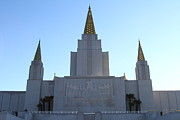 Latter-day-saints Posters - Oakland California Temple . The Church of Jesus Christ of Latter-Day Saints . 7D11326 Poster by Wingsdomain Art and Photography