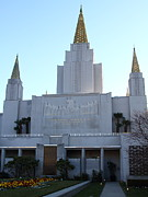 The Church Prints - Oakland California Temple . The Church of Jesus Christ of Latter-Day Saints . 7D11327 Print by Wingsdomain Art and Photography