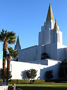 Latter-day-saints Posters - Oakland California Temple . The Church of Jesus Christ of Latter-Day Saints . 7D11329 Poster by Wingsdomain Art and Photography