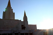 The Church Prints - Oakland California Temple . The Church of Jesus Christ of Latter-Day Saints . 7D11330 Print by Wingsdomain Art and Photography