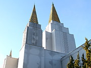 Churchs Prints - Oakland California Temple . The Church of Jesus Christ of Latter-Day Saints . 7D11360 Print by Wingsdomain Art and Photography