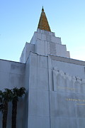 Churchs Prints - Oakland California Temple . The Church of Jesus Christ of Latter-Day Saints . 7D11364 Print by Wingsdomain Art and Photography