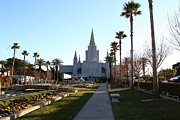 Oakland California Temple . The Church Of Jesus Christ Of Latter-day Saints . 7d11371 Print by Wingsdomain Art and Photography