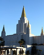 The Church Prints - Oakland California Temple . The Church of Jesus Christ of Latter-Day Saints . 7D11374 Print by Wingsdomain Art and Photography