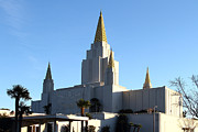 The Church Prints - Oakland California Temple . The Church of Jesus Christ of Latter-Day Saints . 7D11375 Print by Wingsdomain Art and Photography