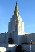 Latter-day-saints Posters - Oakland California Temple . The Church of Jesus Christ of Latter-Day Saints . 7D11377 Poster by Wingsdomain Art and Photography