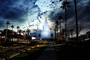 Place Of Worship Photos - Oakland California Temple . The Church of Jesus Christ of Latter-Day Saints by Wingsdomain Art and Photography