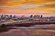 Bay Bridge Art - Oakland Sunset by Kelley King