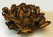 Iron  Sculptures - Oakleaf Bowl by MD Selinsky