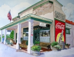 Wine Country. Painting Prints - Oakville Grocery Print by Gail Chandler