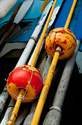 Oars Metal Prints - Oars And Bouys Manarola Italy Metal Print by Xavier Cardell